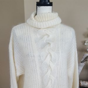 Express Tricot cream sweater womens size S